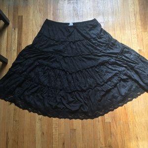 Dresses & Skirts - Size XL Black Bohemian Boho Peasant Skirt